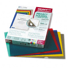 C-line - project folders, jacket, letter, poly, assorted colors, 25/box, sold as 1 bx