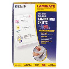 C-line - cleer adheer laminating film, 2 mil, 9 x 12, 50/box, sold as 1 bx