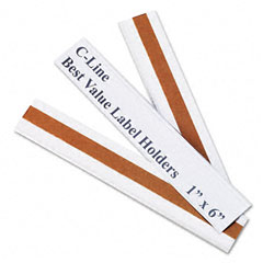 C-line - label holders, top load, 6 x 1, clear, 50/pack, sold as 1 pk
