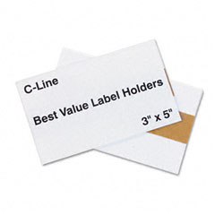 C-line - label holders, top load, 5 x 3, clear, 50/pack, sold as 1 pk
