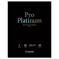 Canon - photo paper pro platinum, 80 lbs., glossy, 8 1/2 x 11, 20 sheets/pack, sold as 1 ea