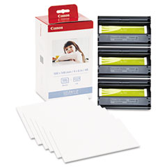 Canon - kp-108in color ink ribbon w/glossy 4 x 6 photo paper pack, 108 sheets, sold as 1 ea