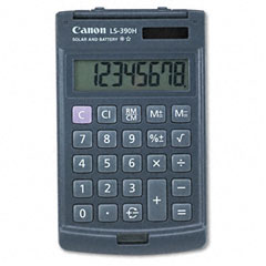 Canon CNMLS390H LS390H Handheld Pocket Calculator, 8-Digit LCD