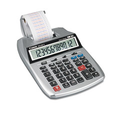 Canon - p23-dhv 12-digit two-color printing calculator, 12-digit lcd, purple/red, sold as 1 ea