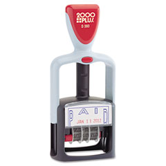 Cosco - 2000 plus two-color word dater, -inchpaid,-inch self-inking, sold as 1 ea