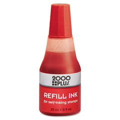 Cosco - 2000 plus self-inking refill ink, red, .9 oz. bottle, sold as 1 ea