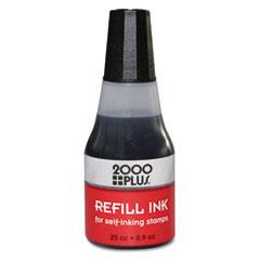 Cosco - 2000 plus self-inking refill ink, black, .9 oz bottle, sold as 1 ea