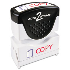 Accustamp2 - accustamp2 shutter stamp with microban, red/blue, copy, 1 5/8 x 1/2, sold as 1 ea