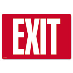 Cosco - glow-in-the-dark safety sign, exit, 12 x 8, red, sold as 1 ea