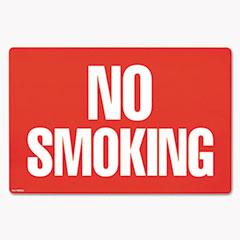 Cosco - two-sided signs, no smoking/no fumar, 8 x 12, red, sold as 1 ea