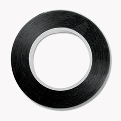 Cosco - art tape, black gloss, 1/8 x 324, sold as 1 ea