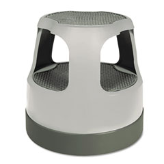 Cramer - scooter stool round, 15-inch, step & lock wheels, to 300 lbs, gray, sold as 1 ea