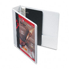 Cardinal - recycled clearvue easyopen vinyl d-ring presentation binder, 2-inch capacity, white, sold as 1 ea