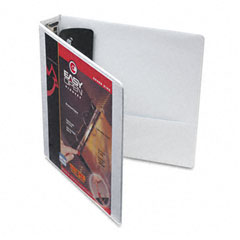 Cardinal - easyopen clearvue locking round ring binder, 1-1/2-inch capacity, white, sold as 1 ea