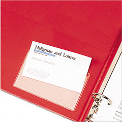 Cardinal - holdit! poly business card holders, top load, 3-3/4 x 2-3/8, clear, 10/pack, sold as 1 pk
