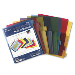 Cardinal - poly expanding pocket index dividers, 8-tab, letter, assorted, 8/set, sold as 1 st