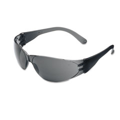 Crews - checklite scratch-resistant safety glasses, gray lens, sold as 1 ea