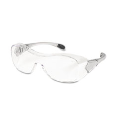 Crews - law over the glasses safety glasses, clear anti-fog lens, sold as 1 ea