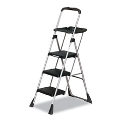 Cosco - max work platform project ladder, 225lb duty rating, 22wx31dx55h, steel, black, sold as 1 ea