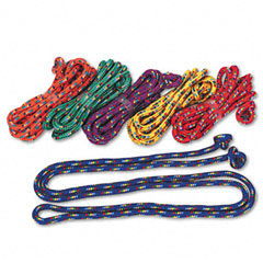 Champion sports - braided nylon jump ropes, 8-ft., 6 assorted color jump ropes/set, sold as 1 st