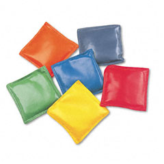 Champion sports - bean bag set, vinyl, 4-inch, assorted colors, 6/set, sold as 1 st