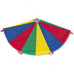Champion sports - nylon multicolor parachute, 12-ft. diameter, 12 handles, sold as 1 ea