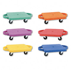 Champion sports - scooter set wswivel casters, plastic/rubber, 12 x 12, assorted colors, 6/set, sold as 1 st