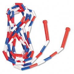 Champion sports - segmented plastic jump rope, 16-ft., red/blue/white, sold as 1 ea