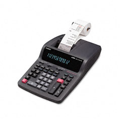 Casio - dr-210tm two-color desktop calculator, 12-digit digitron, black/red, sold as 1 ea
