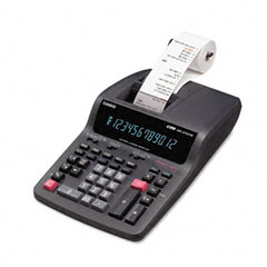Casio - dr-270tm two-color desktop calculator, 12-digit digitron, black/red, sold as 1 ea