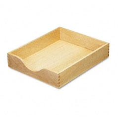 Carver - hardwood letter stackable desk tray, oak, sold as 1 ea