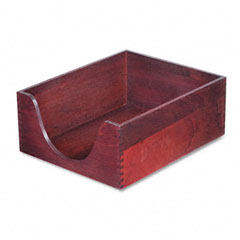 Carver - hardwood letter stackable desk tray, mahogany, sold as 1 ea