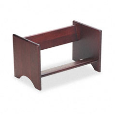 Carver - binder rack, wood, 17 1/4 x 10 x 10, mahogany finish, sold as 1 ea