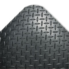 Crown - industrial deck plate antifatigue mat, vinyl, 36 x 60, black, sold as 1 ea