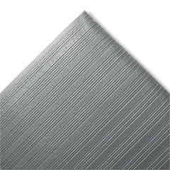 Crown - ribbed antifatigue mat, vinyl, 27 x 36, gray, sold as 1 ea