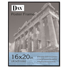Dax - coloredge poster frame w/plexiglas window, 16 x 20, clear face/black border, sold as 1 ea
