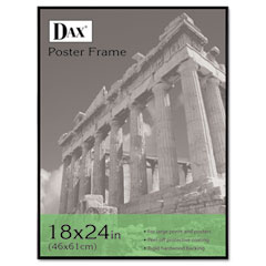 Dax - coloredge poster frame w/plexiglas window, 18 x 24, clear face/black border, sold as 1 ea