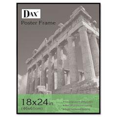Dax - coloredge poster frame w/plexiglas window, 18 x 24, clear face/black border, sold as 1 ea