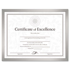 Dax - value u-channel document frame w/certificates, 8-1/2 x 11, silver, sold as 1 ea