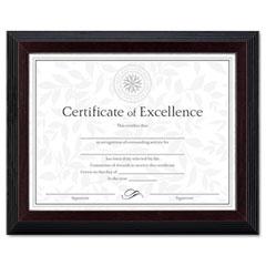 Dax - solid wood award/certificate frame, 8-1/2 x 11, black w/walnut trim, sold as 1 ea