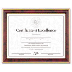 DAX N2709N7T Gold-Trimmed Document Frame W/Certificate, Wood, 8-1/2 X 11, Mahogany