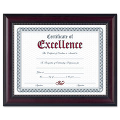Dax - prestige document frame, rosewood/black, gold accents, certificate, 8 1/2 x 11-inch, sold as 1 ea