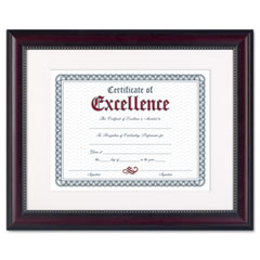 Dax - prestige document frame, matted w/certificate, rosewood/black, 11 x 14-inch, sold as 1 ea