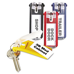 Durable - key tags for locking key cabinets, plastic, 1-1/8 x 2-3/4, assorted, 24/pack, sold as 1 pk