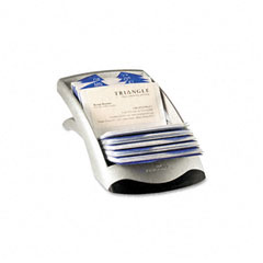 Durable - visifix desk business card file holds 200 4 1/8 x 2 7/8 cards, graphite/black, sold as 1 ea