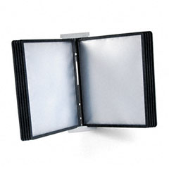 Durable - instaview expandable desktop reference system with black borders, 10 panels, sold as 1 ea