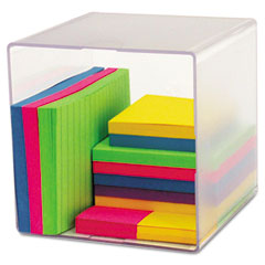 Deflect-o - desk cube, clear plastic, 6 x 6 x 6, sold as 1 ea