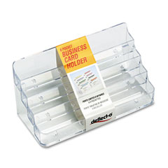 Deflect-o - eight-pocket business card holder, capacity 400 cards, clear, sold as 1 ea