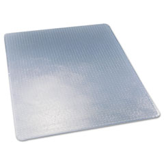 Deflect-o - execumat studded beveled chair mat, high pile carpet, 46w x 60l, clear, sold as 1 ea