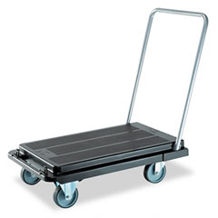 Deflect-o - heavy-duty platform cart, 500lb capacity, 20-9/10w x 32-5/8d x 9h, black, sold as 1 ea
